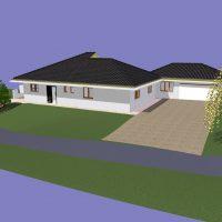 plan garage projet avant