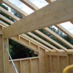 charpente toit vu interieur